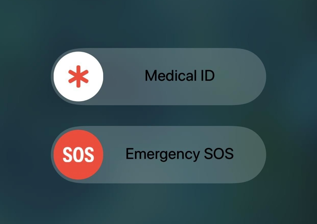 sos emergency button in ios
